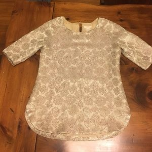 J Crew Gold Shirt Size 0
